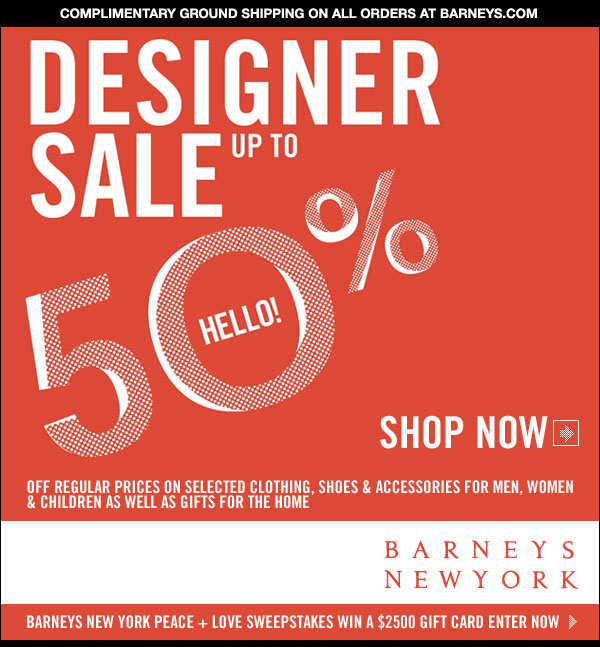Barneys New York Sale!