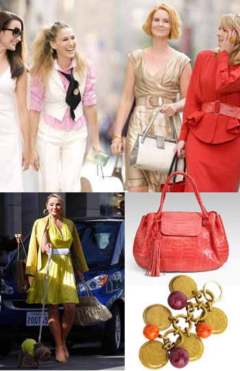 Luxe Croc Handbags By Nancy Gonzalez Are Featured In The Upcoming And City Film Kim Cattrall Cynthia Nixon Both Seen Carrying